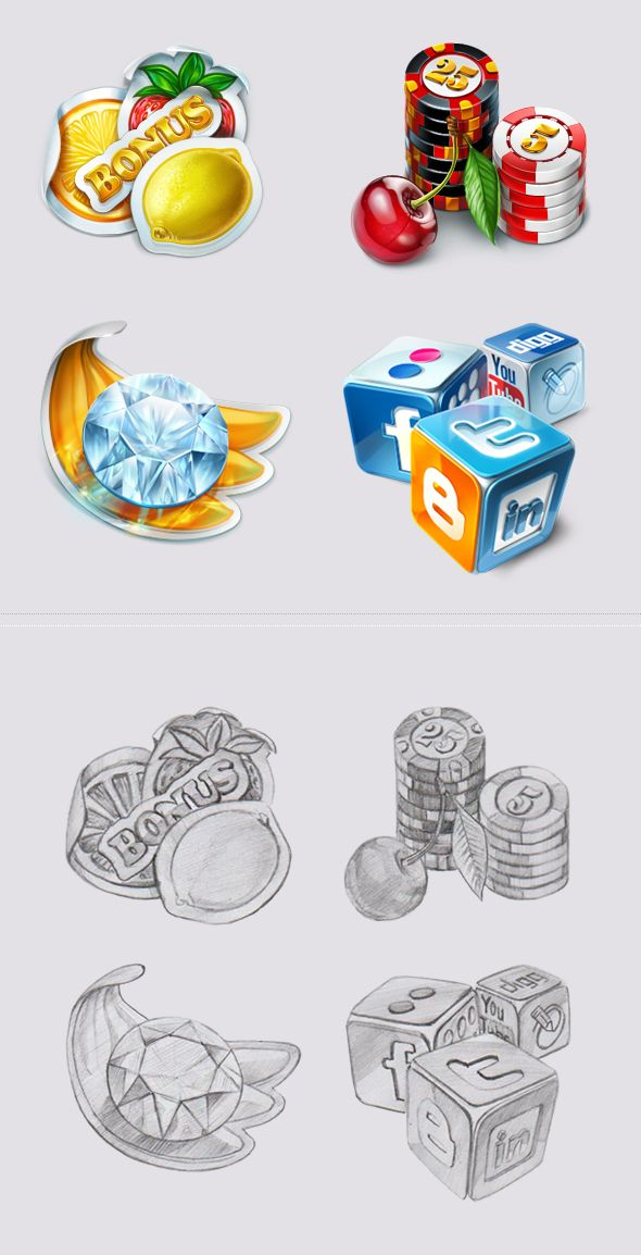 Icons for the slot-machines by Slotopaint.deviantart.com on @deviantART