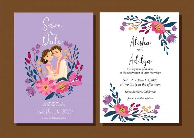 Cute Indian Wedding Couple For Wedding Invitations Card Isolated With Background Indian Wedding Invitation Cards Digital Invitations Wedding Wedding Card Wordings
