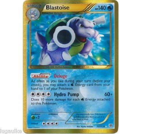 Pokemon Card Plasma Storm Secret Rare Holo Blastoise 137/135 low combined ship