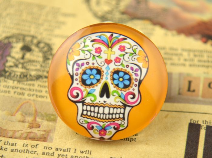 Cabochon con teschio messicano su DaWanda.com