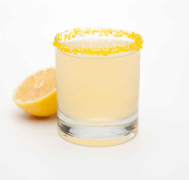 Gota de limon y melocoton