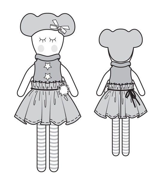 Кукла - выкройка № 149 из журнала 9/2013 Burda – выкройки игрушек на Burdastyle.ru