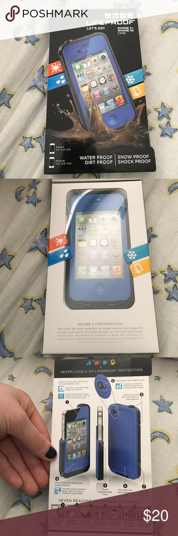NWT iPhone 4/4s Blue Lifeproof Case iPhone 4/4s Blue Lifeproof Case - Negotiable Price Accessories Phone Cases
