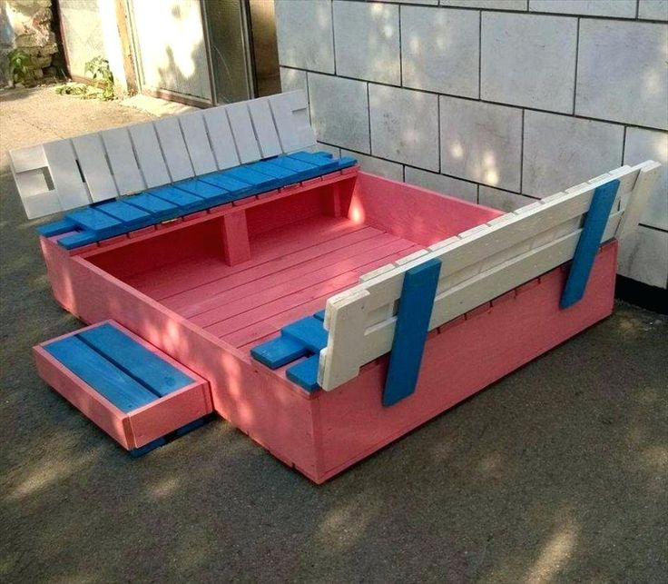 Build a sandbox with cover sand box plans lid diy covered