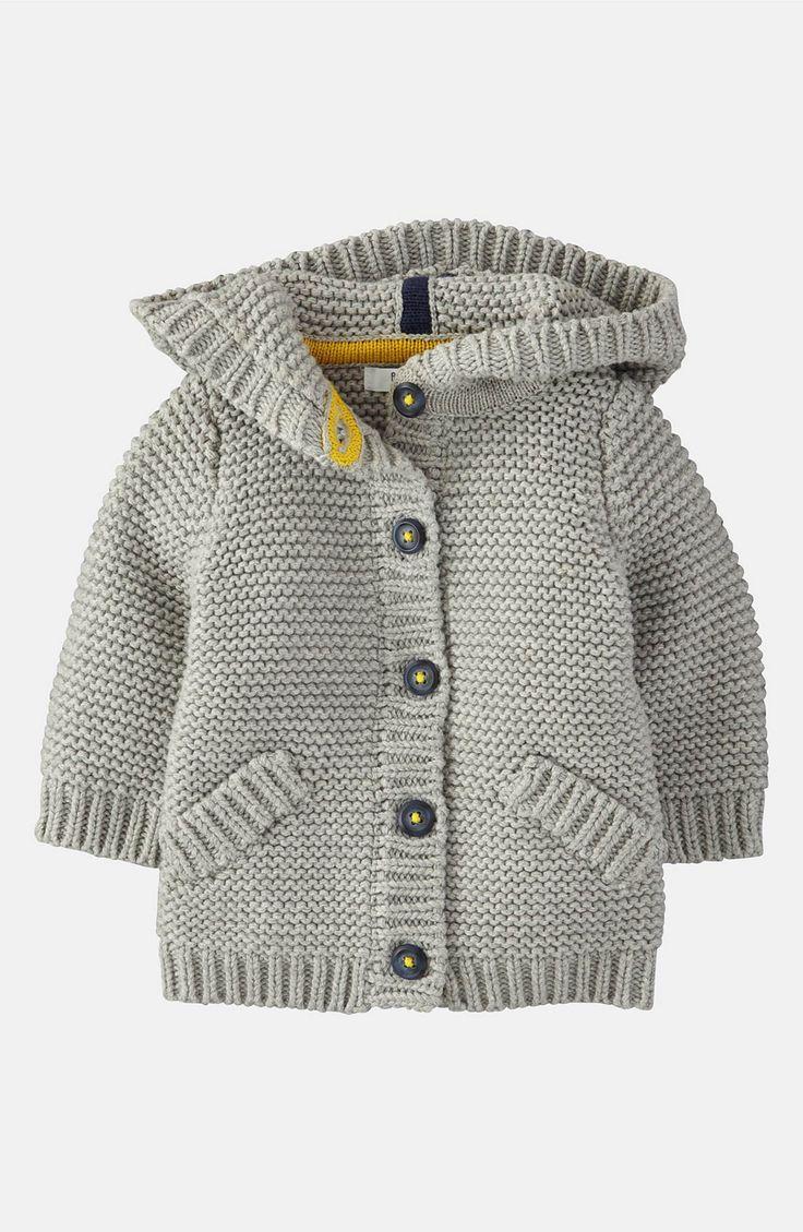 Main Image - Mini Boden 'Chunky' Cardigan (Infant)