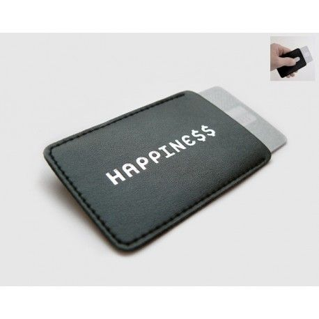 Creditcard hoesje Happine$$ Leuk cadeautje voor iedereen die zuinig wil zijn op zijn/haar bankpasje.