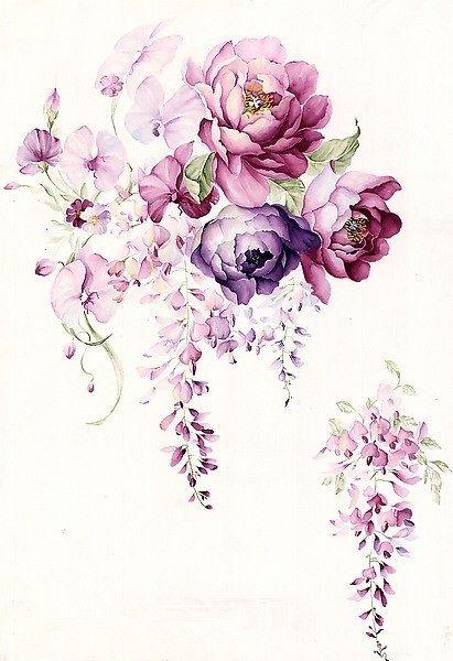 Pretty floral watercolor