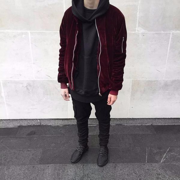 Velour Ribbed Sleeve Bomber Jacket Limetliss Designer Bomber Jacket Fashion Bomber Outfit