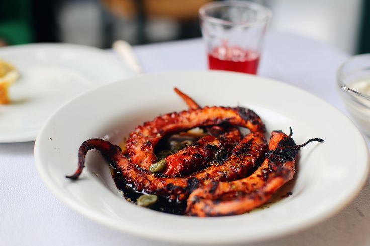 Grilled Octopus in Piraeus, Greece