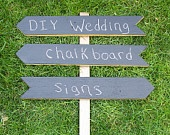 DIY Wood Wedding Signs, Chalkboard Wedding Sign Kit, Wedding Arrow Signs, Use Outside or Indoors. $42.00, via Etsy.