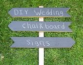 DIY Wood Wedding Signs, Chalkboard Wedding Sign Kit, Wedding Arrow Signs, Use Outside or Indoors. $42.00, via Etsy.