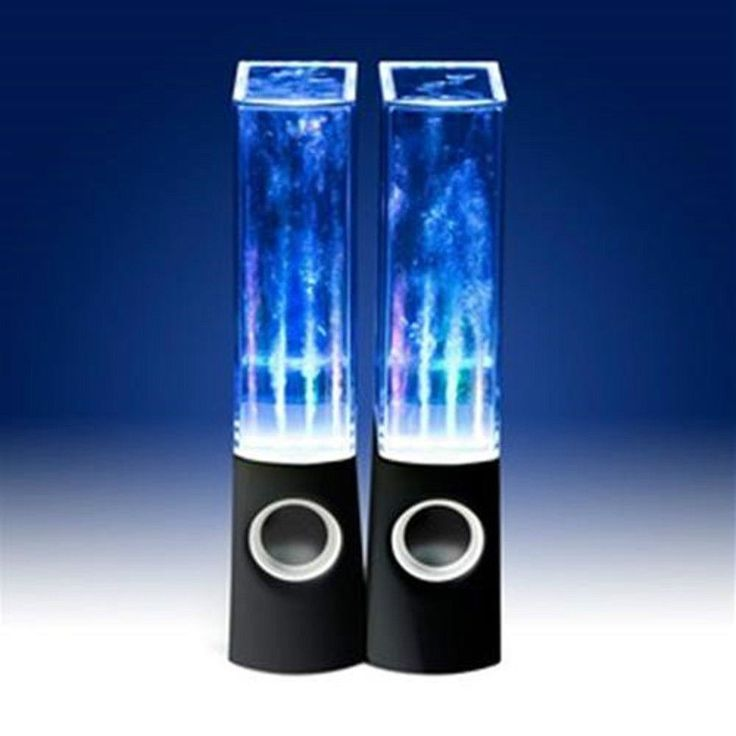 CASSE PC CON ACQUA ALTOPARLANTI WATER DANCING SPEAKERS LED MP3 SMARTPHONE NERO