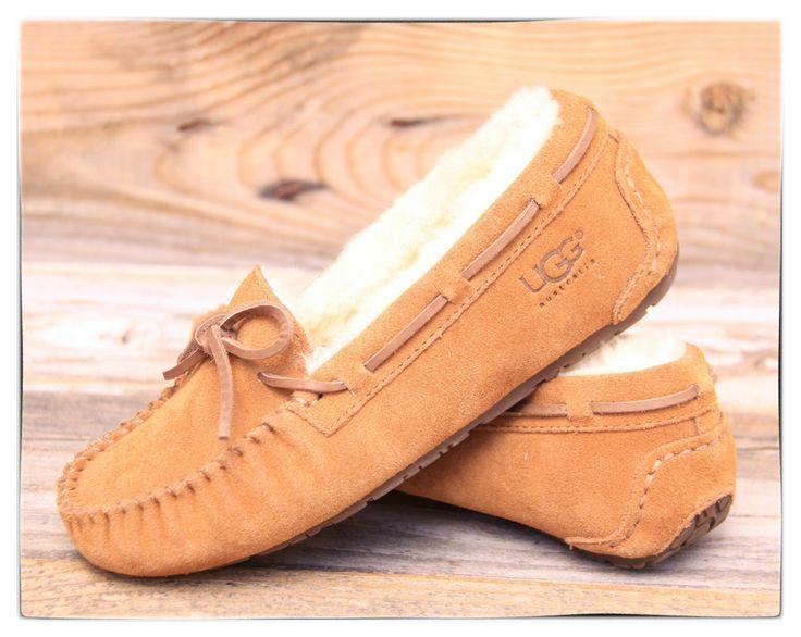 http://fancy.to/rm/460322971890751181 UGG Australia Kids Dakota Chestnut Slide On Mocassin Slippers