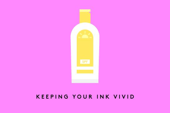How To Make Your Tattoos Look Better Than Ever #refinery29  http://www.refinery29.com/faded-tattoo-care#slide-3  Keeping Your Ink Vivid  The best way to slow down your tattoo's natural fading process is applying a sunscreen with at least SPF 30 whenever it's exposed to the sun. Some artists claim that continuing to moisturize it daily after the two-week mark works wonders as well. The brand Billy Jealousy has a whole kit dedicated to scrubbing, hydrating, and enhancing your ink.   At the end…