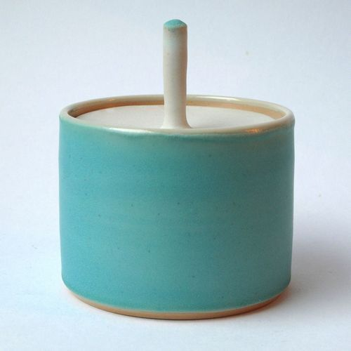 Small Turquoise Jar.  Sue Ure.