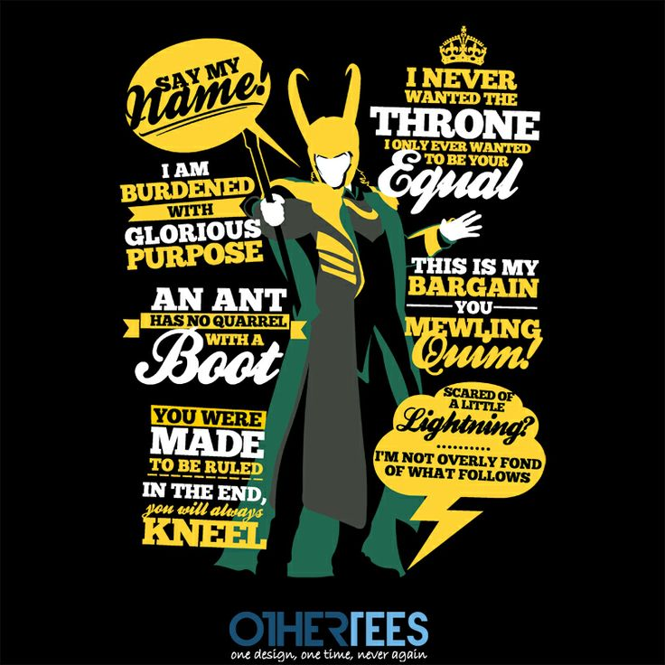 Quotes of a Mischief God by TomTrager Shirt on sale until 30 March on http://othertees.com #loki