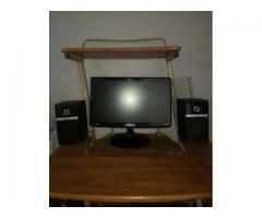 Computer With LCD (High Quality System) with Table For Sale in Faisalabad