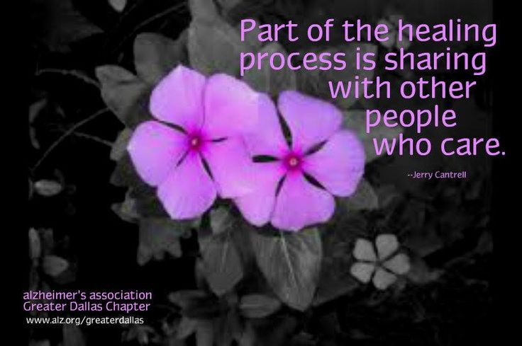 Sharing your story is part of healing. Join your local Alzheimer's support group today and meet others living with or caring for those with #ALZ