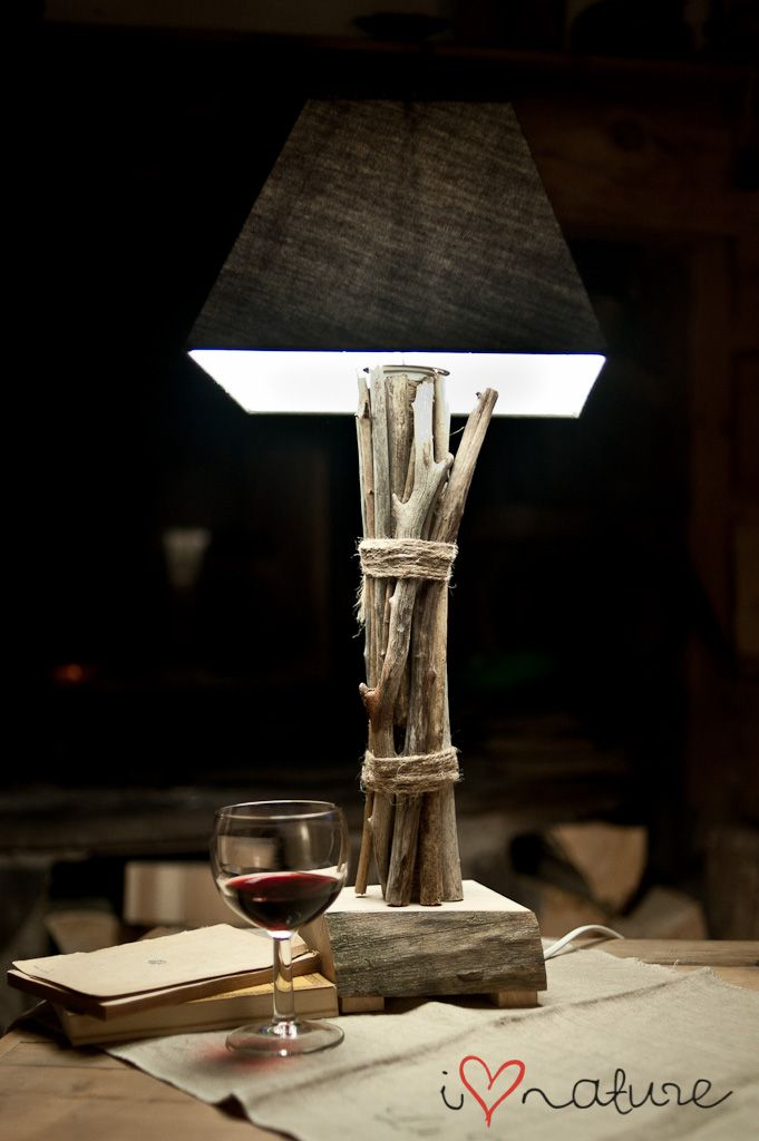 driftwood lamp-wrap around any ugly base