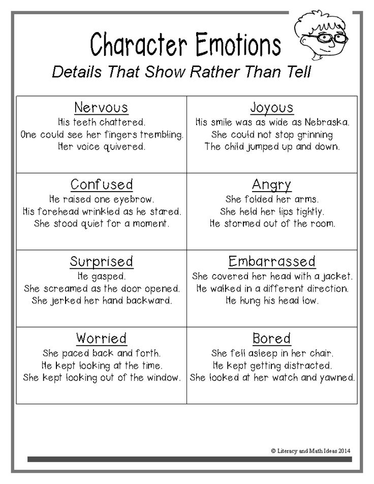 Teach students to write details that show rather than tell.  Free student handouts are included with this blog post