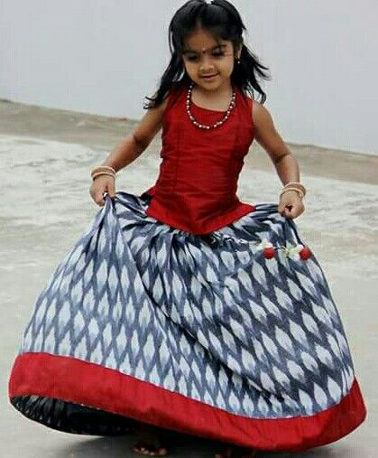Kid in cute langa blouse .....