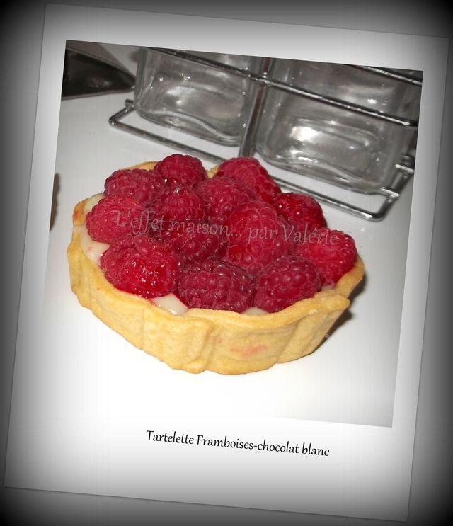 Blog de leffetmaison :L'EFFET  MAISON... par Valérie, Tartelettes aux framboises et chocolat blanc