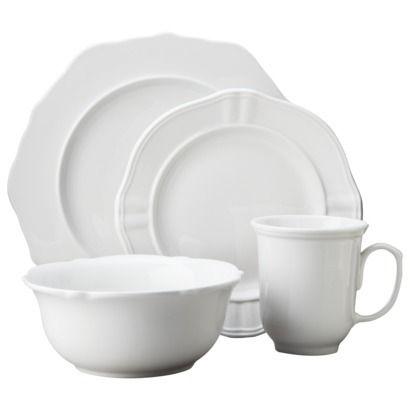 Threshold 16 Piece Wellsbridge Dinnerware Set White