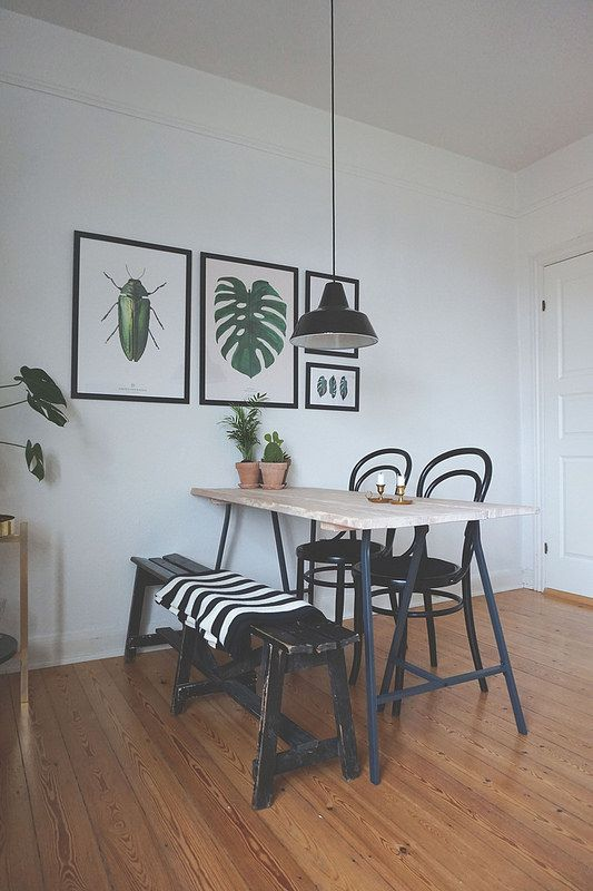 BY GARMI Monstera Plant print in beautiful scandinavian surroundings. Photo & styling by: ditteblog.dk