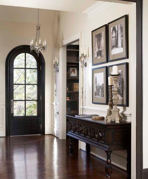 Foyer Door Frame : Traditional entryway art door console interior