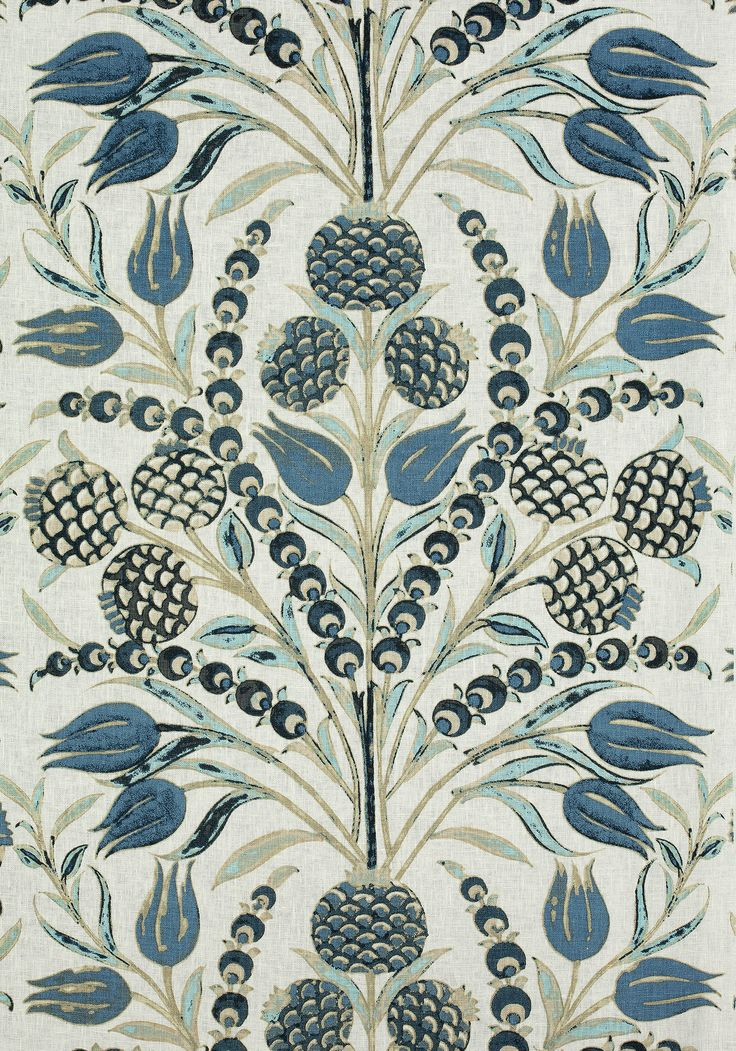 CORNEILA, Aqua and Blue, F972602, Collection Chestnut Hill from Thibaut