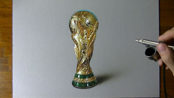 Amazing 3D Drawing of FIFA World Cup Trophy