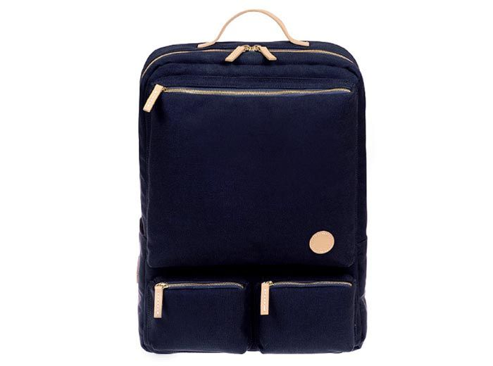 FBP-001, Fennec zip pocket Backpack  Brand : Fennec  Product code : FBP-001  Main color : Navy blue  Material : Coated canvas & Cowhide leather  Padded sleeve for laptop(13″~15″) & tablet PC & iPad  Water resistant  Khaki, Red, Brown, Ivory also available.  You can meet this useful backpack at Here, UNIHOOD STORE.  http://unihoodstore.com/fennec-classic-canvas-backpack-fbp-001-navy-blue.html