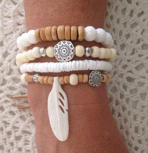 Bohemian bracelet stack bohemian jewelry beach by beachcombershop