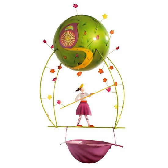 Harmony and balance - the tightrope walker mobile ... created in France for children to treasure.  www.spiritedmama.com
