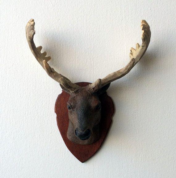 Miniature trophée de chasse tête de cerf maison de par MadeInEven