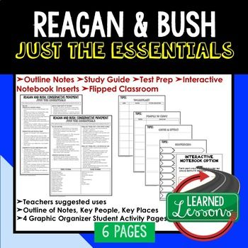 Reagan & Bush Conservatives Outline Notes JUST THE ESSENTIALS Unit Review