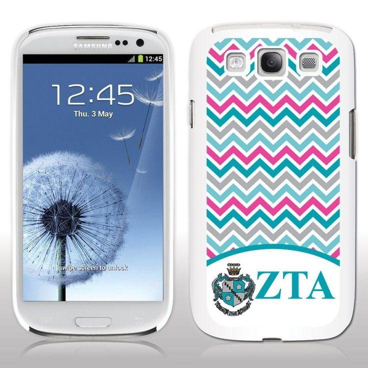 Zeta Tau Alpha Samsung Galaxy S3 White Slim Case - Chevron Stripes
