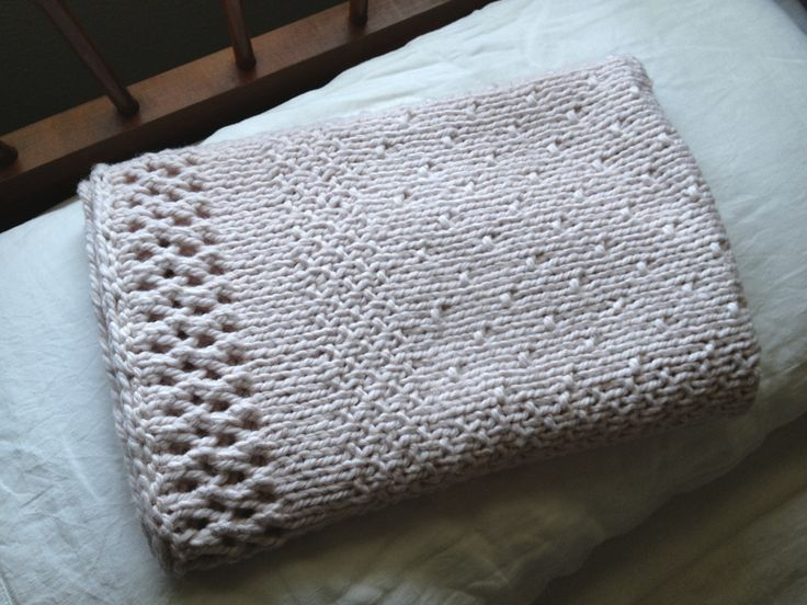 Knitting Pattern Blanket Throw : 368 best Knit Blankets images on Pinterest Knitting ...