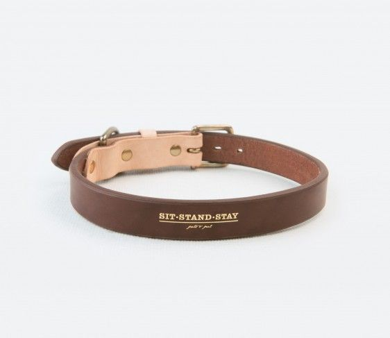 "Le Noir Collection Dog Collar | ""Burnt wood"""