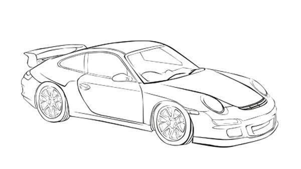 Porsche 911 Kleurplaat  U2022 Kidkleurplaat Nl