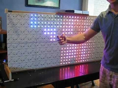 Princip Interactive LED Futuro Cube from ThinkGeek - YouTube
