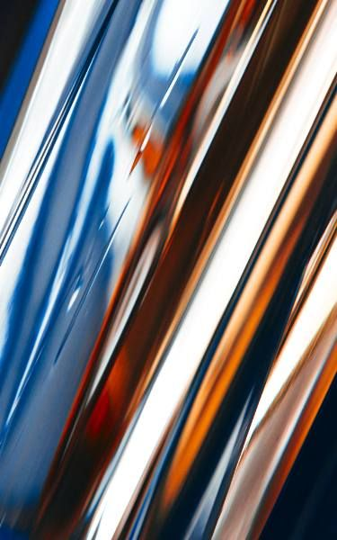 Jet Off, Abstract Expressionism in Gradient Colors , 22 x 35 x 2 inches, Abstract Blue Red White Photograph, New Media Art - Limited Edition 1 of 10