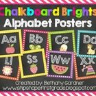 Use these fun chalkboard and brights themed alphabet posters to stylishly display the alphabet in your classroom.  Students will be able to refer t...