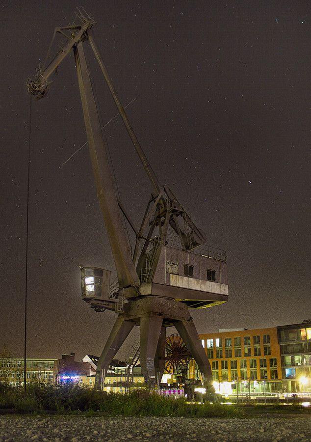 Hafen Münster bei Nacht - Münster, Germany