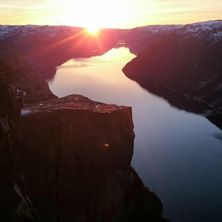 One of the World's BEST Hikes. The Sunrise Hike to Pulpit Rock, outside Stavanger, Norway.
