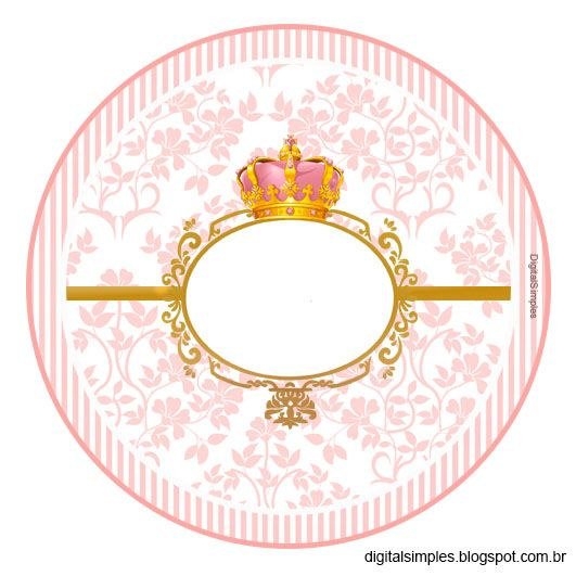 "Custom Kit Theme ""Crown Pink Girl"" for Print - Digital Single Invitations"