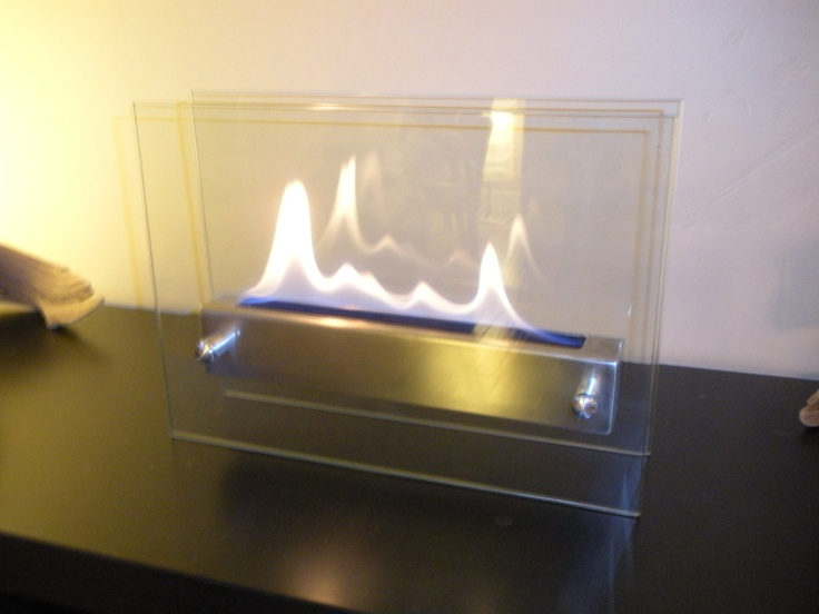 Tabletop Indoor Fireplace - Bio Ethanol Fire Feature. $180.00, via Etsy.