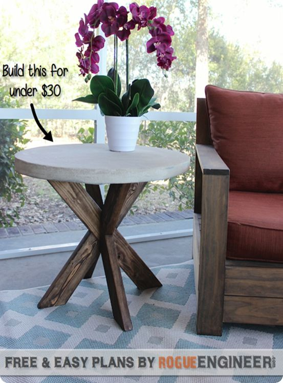 Lovely DIY Furniture ~ Believe It Or Not, This Round Table With Concrete Top Was  Made