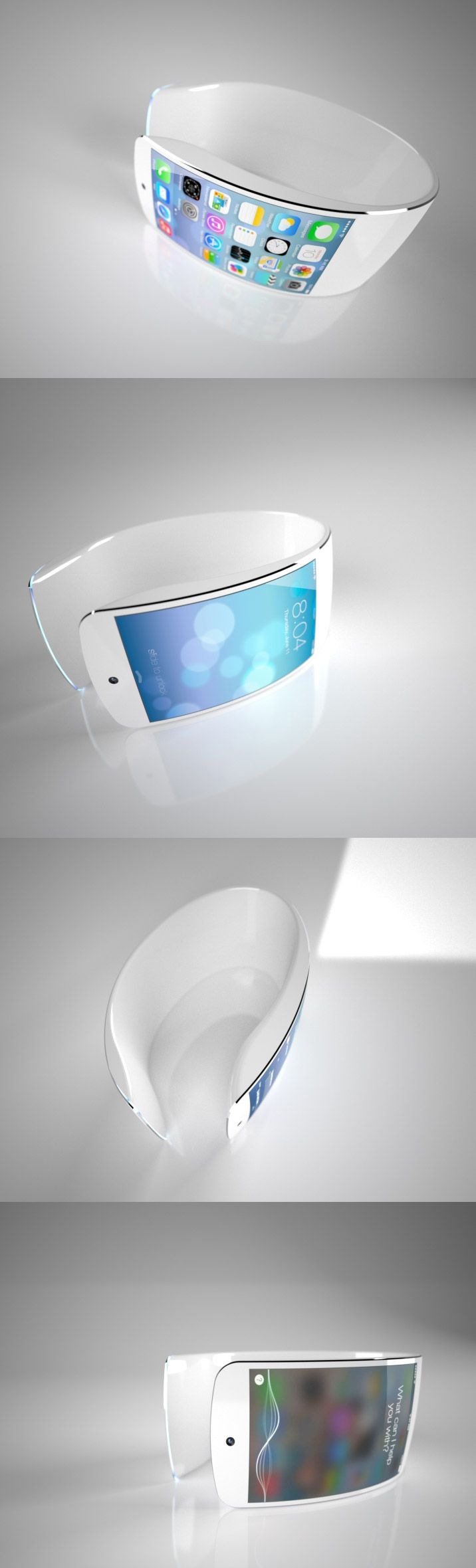 iWatch http://www.cssdesignawards.com/articles/23-smartwatch-ui-designs-concepts/114/