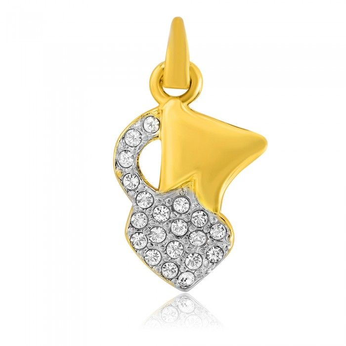 Lovely Gold Plated Capricorn Pendant | High5Store.com